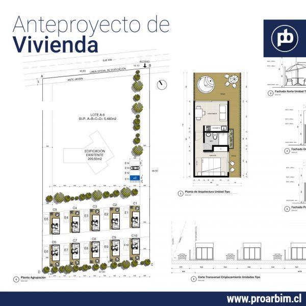 Anteproyectos de vivienda 2 en Lote 5000m2 www.proarbim.cl