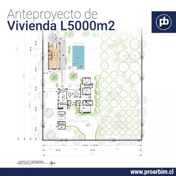 Anteproyectos de vivienda en Lote 5000m2 www.proarbim.cl